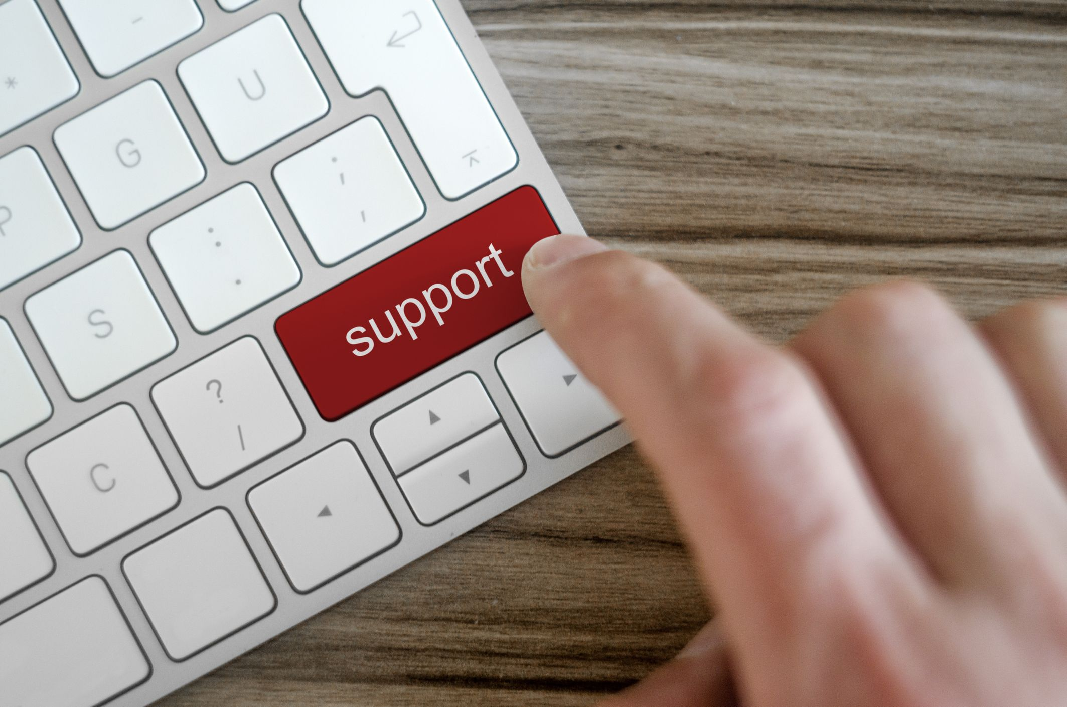 desktop & server support secondary image - support button on keyboard